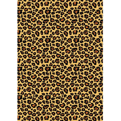 Leopard Print Edible Printed Wafer Paper A4