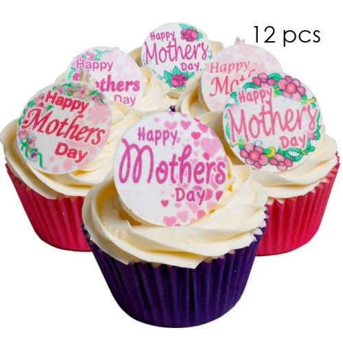 Mother's Day theme Wafer Card edibles x 12 pieces