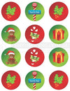 Christmas North Pole Collection Cupcake Edible Image Toppers