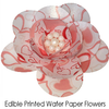 Pre-cut edible wafer paper flower kit - Red Hearts x 3