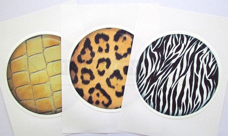 Large Round Animal Print Edible Image Cake Toppers (7 prints available)