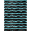 Black Teal Zig Zag Edible Printed Wafer Paper A4