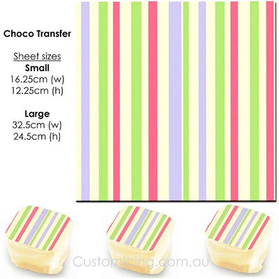 Trio Stripe - Choco Transfer Sheet