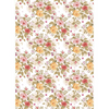 Vintage Floral Edible Printed Wafer Paper A4