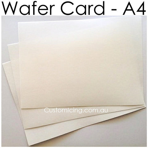 Custom Wafer Card Print (A4 size) Can 'stand up' in frosting!