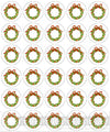 Christmas Wreaths Mini Cupcake Edible Image Toppers 30