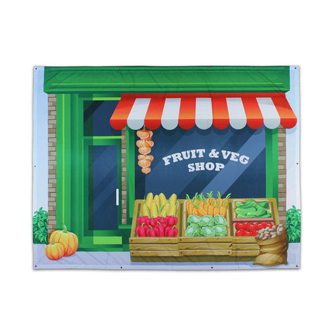 Fruit Shop Outdoor Backdrop 2 x 1.5m