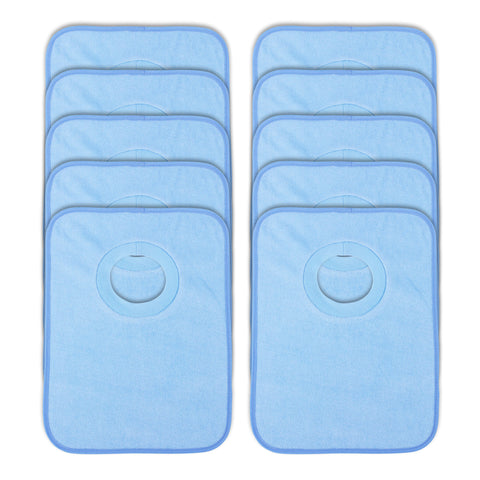 Rib Bib Pack of 10 - Blue