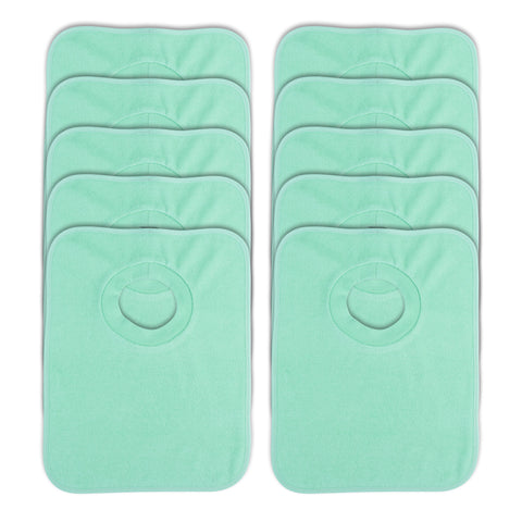 Rib Bib Pack of 10 - Green