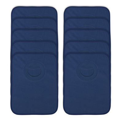 Rib Bib Pack of 10 - Dark Blue