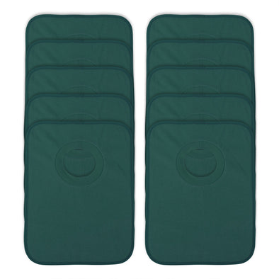 Rib Bib Pack of 10 - Dark Green