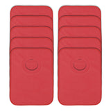 Rib Bib Pack of 10 - Red