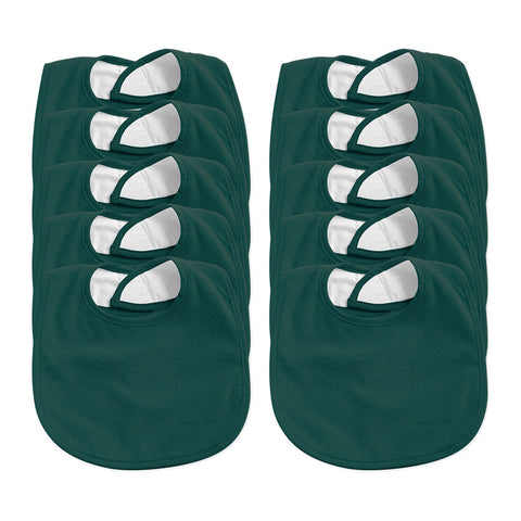 Bib Pack of 10 - Dark Green