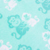 Coral Fleece Cot Blanket - Green Monkey