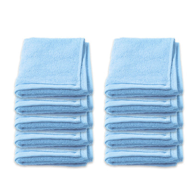 Face Washer Pack of 10 - Blue
