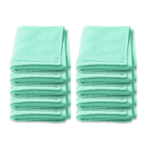 Face Washer Pack of 10 - Green