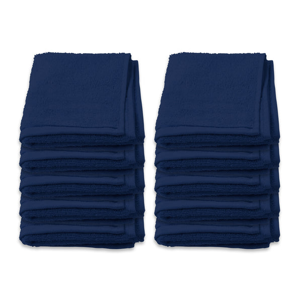 Face Washer Pack of 10 - Navy Blue