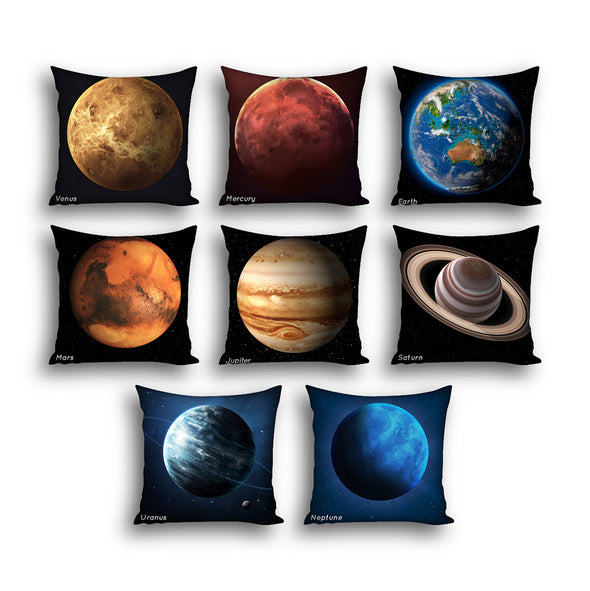 Space Planets Cushion Covers x8