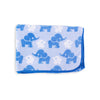 Stretcher and Mat Blanket with Print Yardage - Elephant Blue