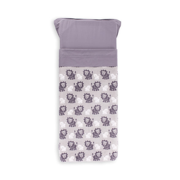 Stretcher and Mat Blanket with Print Yardage - Lion Grey