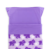 Stretcher and Mat Blanket with Print Yardage - Hippo Purple