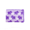 Coral Fleece Cot Blanket - Purple Hippo