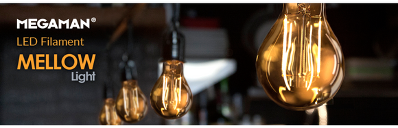 MEGAMAN GOLD FILAMENT BULBS