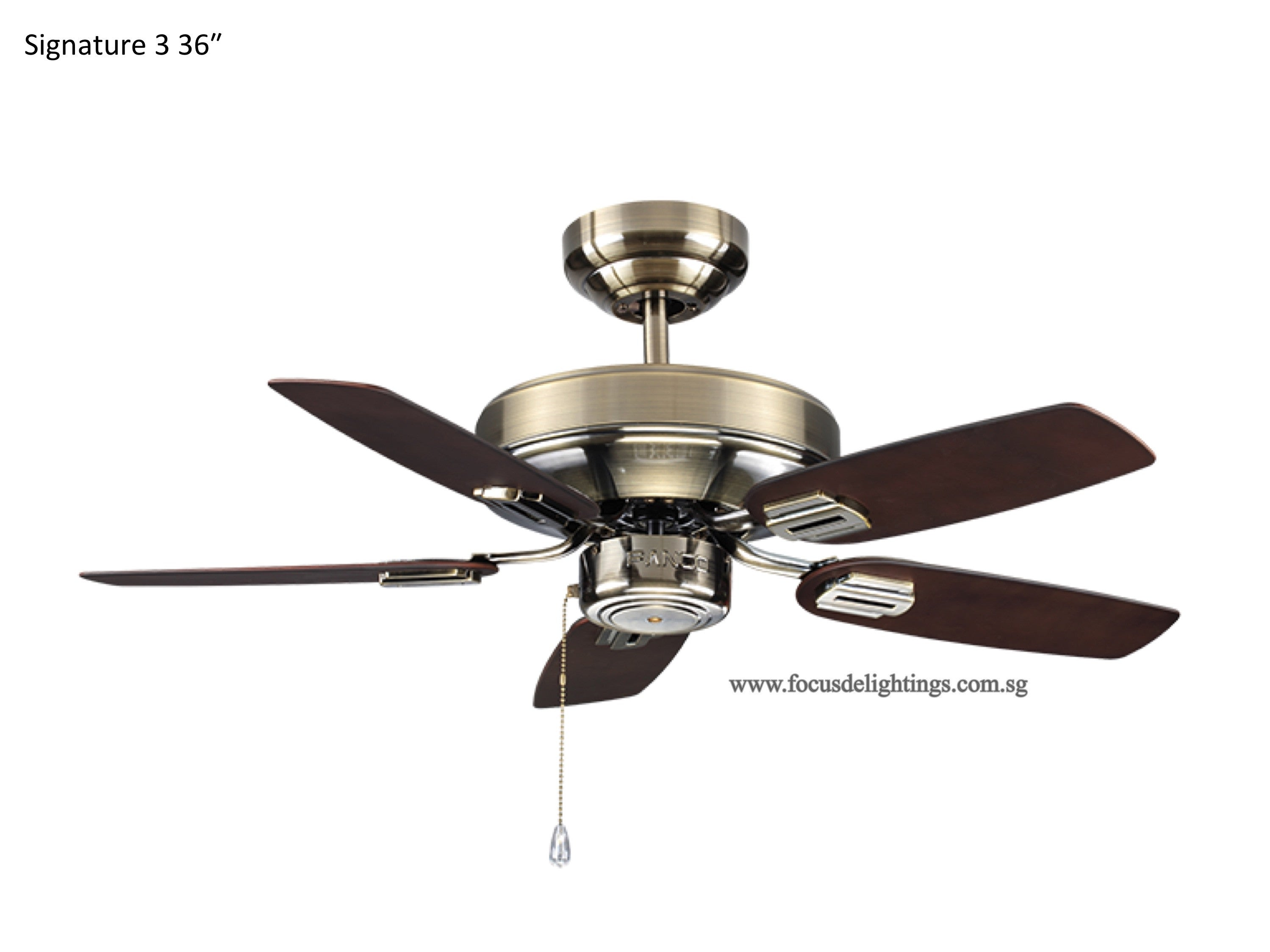 Fanco signature 3 36 ceiling fan focus de lightings fanco signature 3 36 ceiling fan aloadofball Image collections