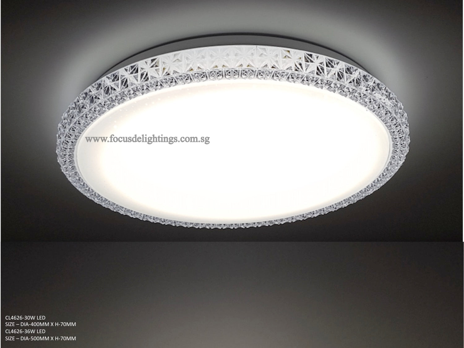 Modern ceiling lamp cl4626 crystal starry white