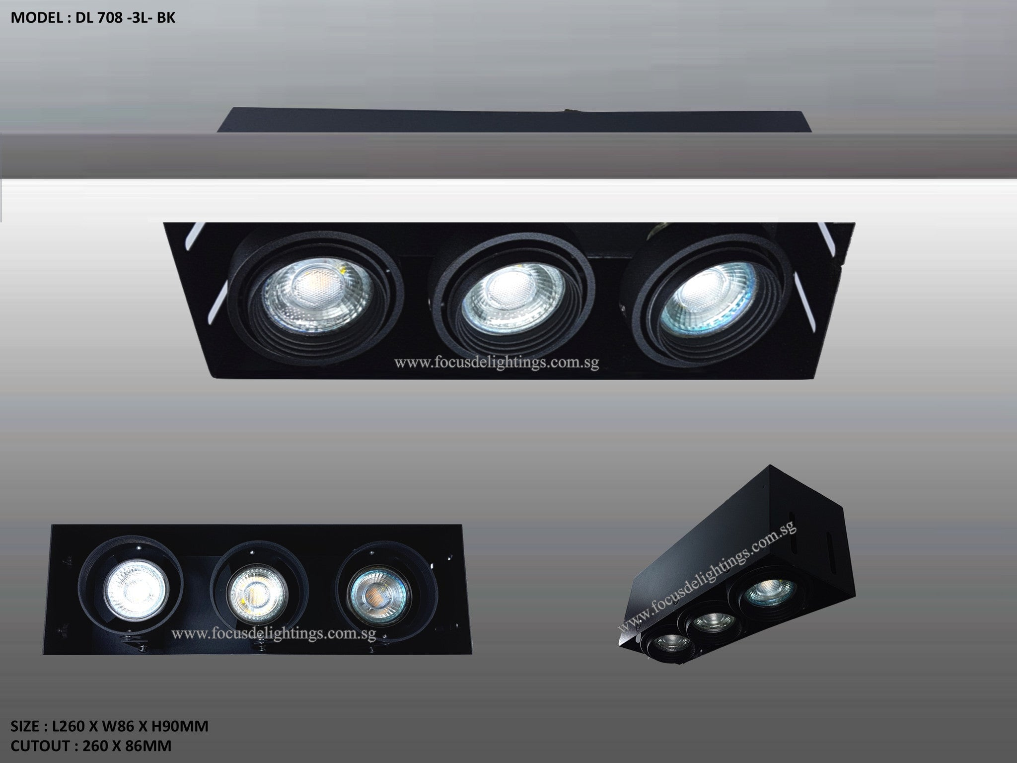 Dl 708 Trimless Series Adjustable Recessed Lighting