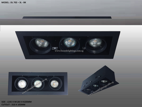 Dl 702 Series Adjustable Recessed Lighting Par16
