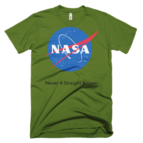 Men's T-Shirt - NASA - Never A Straight Answer