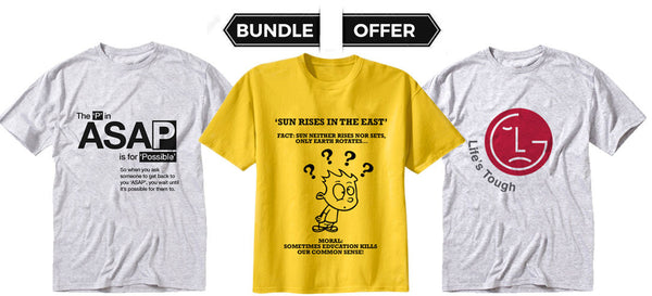 Quoted T Shirts 2 - Bundle Offer