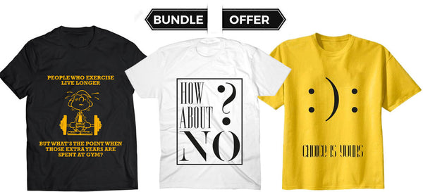 Quoted T Shirts - Bundle Offer