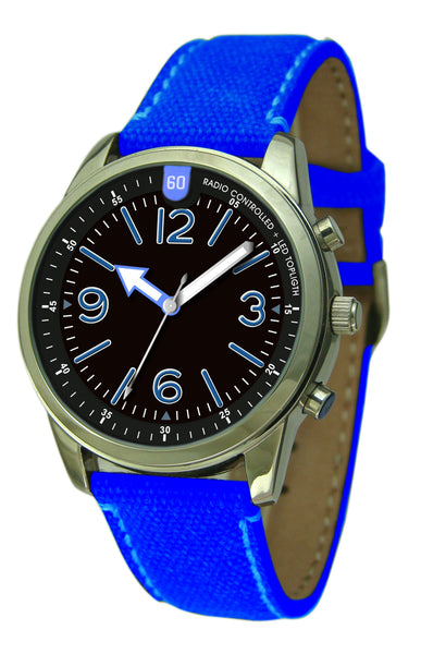 Military Radio Controlled Super Light LED Watch
