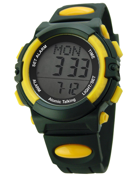ATOMIC DIGITAL TALKING PLASTIC WATCH
