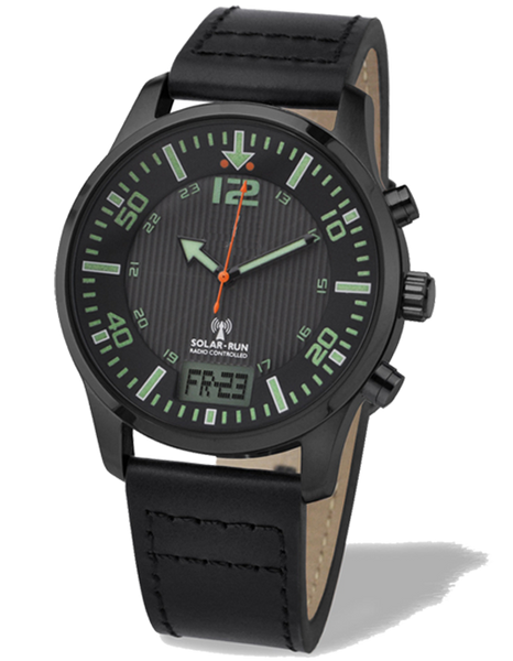 Aviator Solar Radio Controlled Watch III