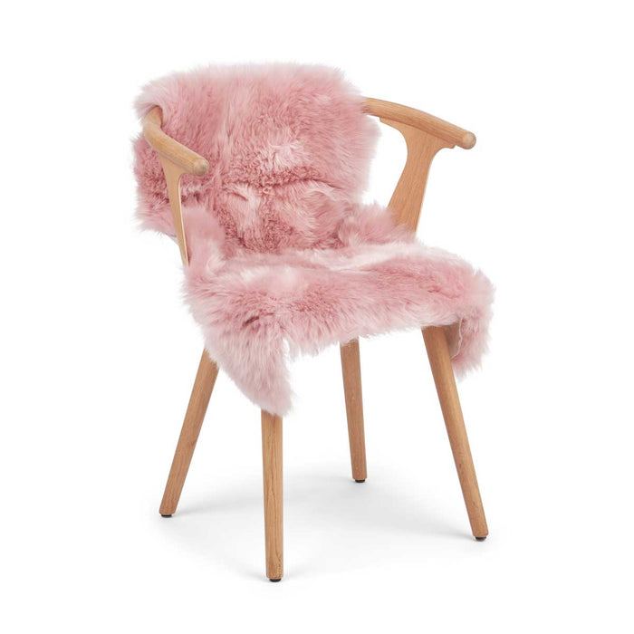 NC Living CORAL COLLECTION Sheepskin, Long-wool, Premium quality, New Zealand, 90 cm Skins Coral Silver Pink