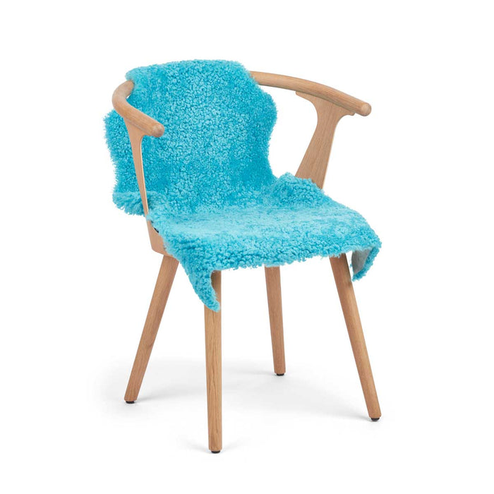 NC Living CORAL COLLECTION Sheepskin, Short-wool, Premium quality, New Zealand, 90 cm Skins Coral Blue