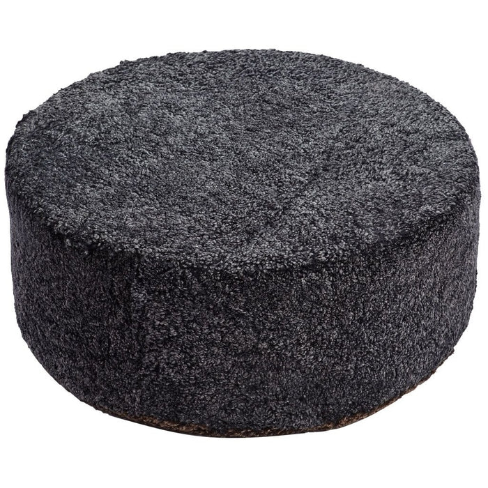 NC Living New Zealand Design Pouf - Shortwool | Size small Poufs Anthracite/Cappuccino