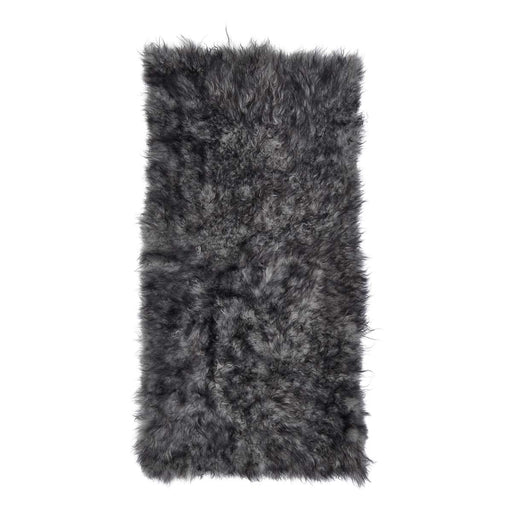 NC Living Cashmere Tibetan Sheepskin plaid | 60x120 cm. Plaid Natural Grey dark