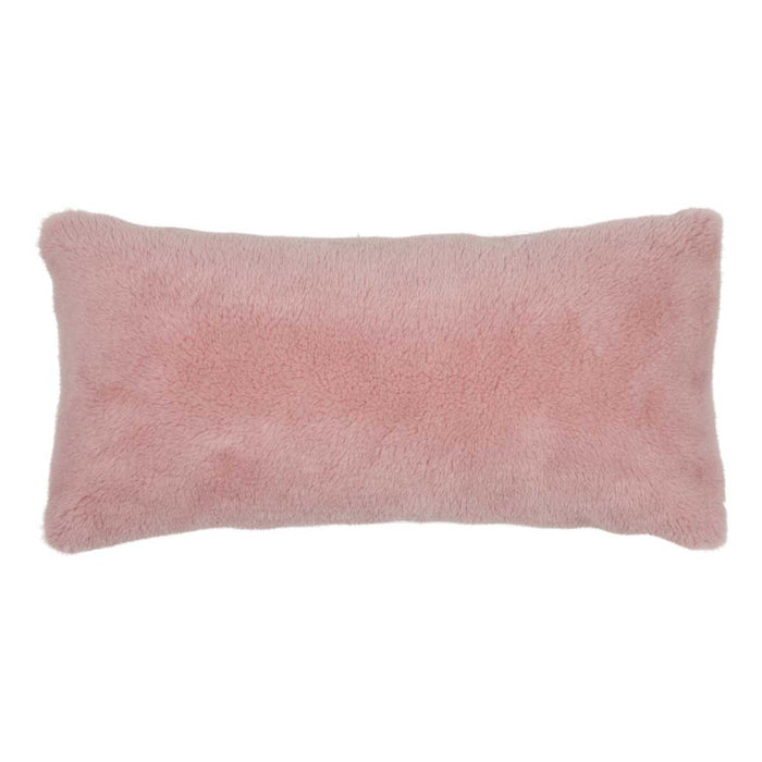 NC Living Cushion of 100% Wool-Fabric, size: 28x56cm Cushions Pink
