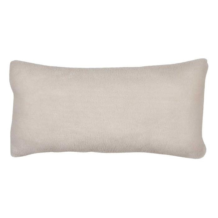 NC Living Cushion of 100% Wool-Fabric, size: 28x56cm Cushions White