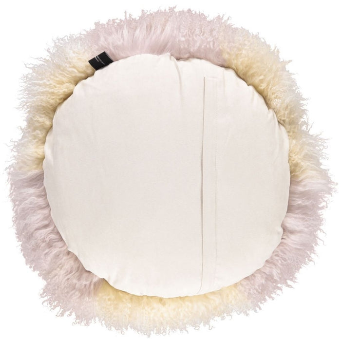 NC Living Tibetan Sheepskin Cushion | Cake Collection | Ø62 Cushions Arctic Sunrise/Dove