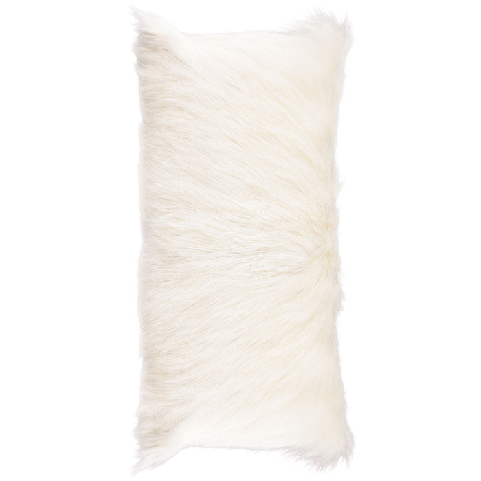 NC Living Goat Skin Cushion - shortwool | 28x56 cm. Cushions Natural Light