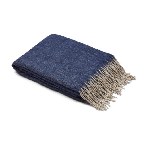NC Living Throw of mohair wool, 25% Throws Blue/Grey