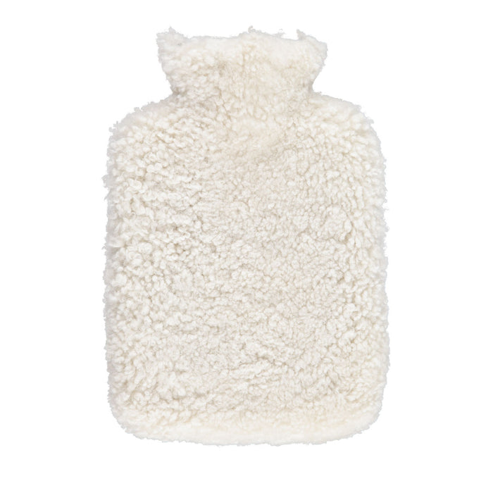 NC Living Hot water bottle. Curly Hot Water Bottle Pearl