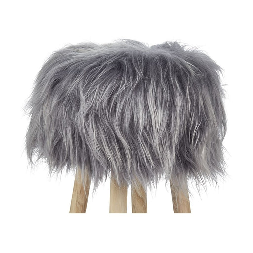 NC Living Icelandic Longwool Sheepskin | Stool Cover Stool Grey Brisa