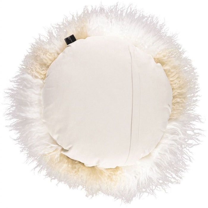 NC Living Tibetan Sheepskin Cushion | Cake Collection | Ø62 Cushions Arctic Sunrise/Ivory