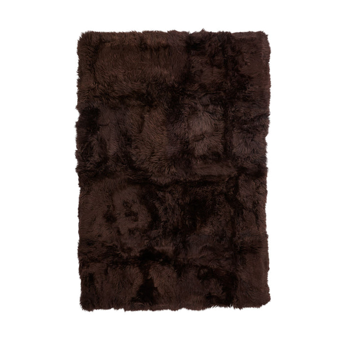 NC Living New Zealand Design Rug - longwool | 120x180 cm. Design Rugs Chocolate